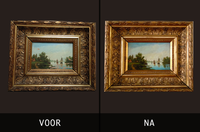 Beschadigd schilderij
