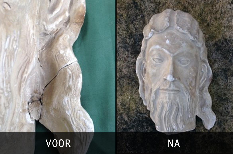 Restauratie Christus hoofd